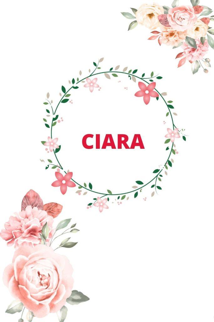 CIARA est un prénom irlandais fille.